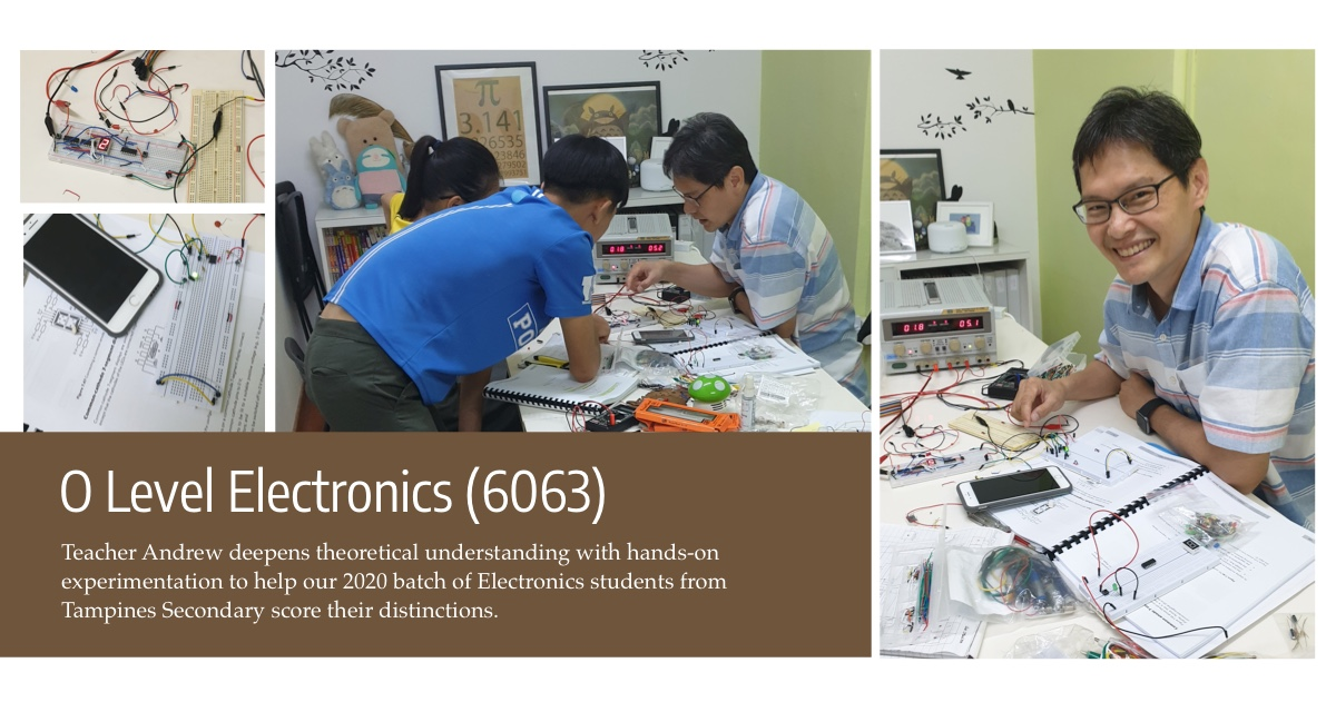 O level Electronics with Teacher Andrew Chin